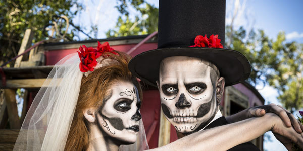 His and Hers Skeleton Wedding look